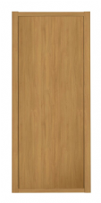 Shaker Sliding Wardrobe Door- OAK FRAME- OAK EFFECT SINGLE PANEL